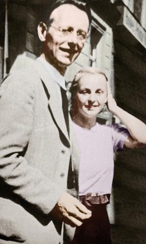 Mit dem Vater bei der Uraufführung der Carmina Burana